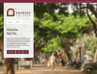 erskine.edu screenshot
