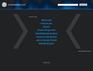erskinelabs.com screenshot