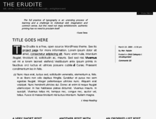 erudite.somadesign.ca screenshot