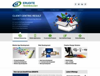 eruditetechnology.com screenshot