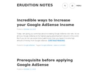 eruditionnotes.com screenshot