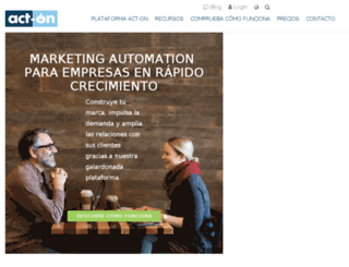 es.act-on.com screenshot