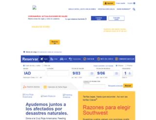 es.airtran.com screenshot