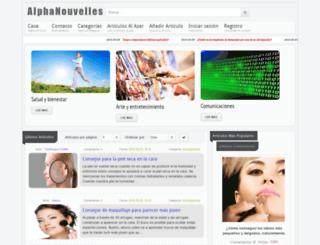 es.alpha-nouvelles.com screenshot