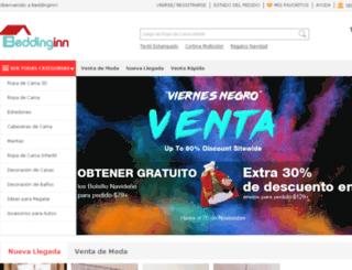 es.beddinginn.com screenshot
