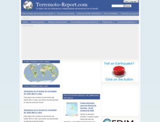 es.earthquake-report.com screenshot