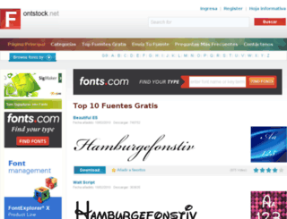 es.fontstock.net screenshot
