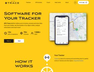 es.gps-trace.com screenshot