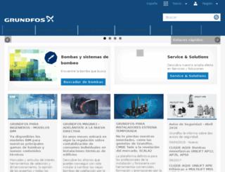 es.grundfos.com screenshot