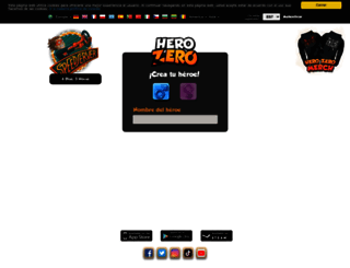 es.herozerogame.com screenshot