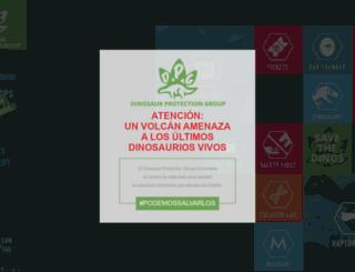 es.jurassicworldintl.com screenshot
