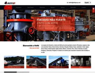 es.kefidchina.com screenshot