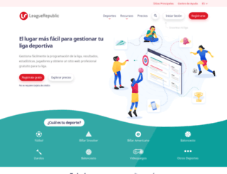 es.leaguerepublic.com screenshot