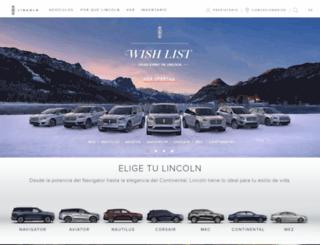 es.lincoln.com screenshot
