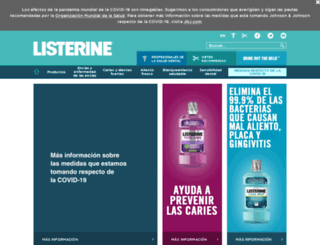 es.listerine.com screenshot