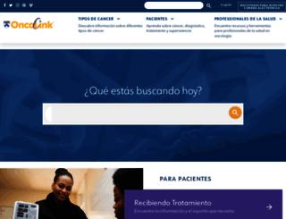 es.oncolink.org screenshot