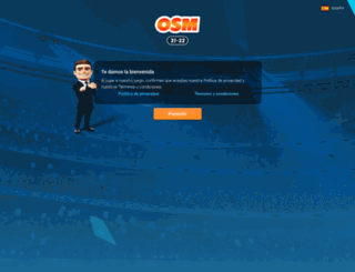 es.onlinesoccermanager.com screenshot