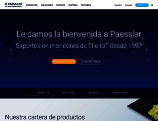 es.paessler.com screenshot