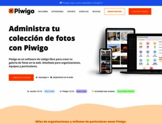 es.piwigo.org screenshot