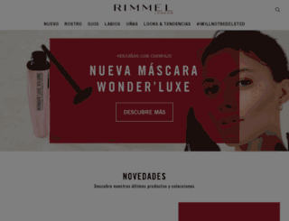 es.rimmellondon.com screenshot