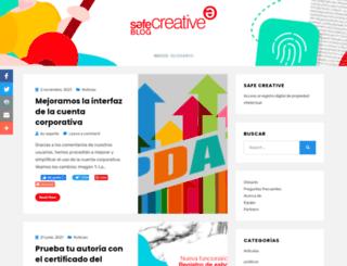 es.safecreative.net screenshot