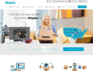 es.shipito.com screenshot