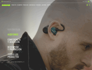 es.shure.com screenshot