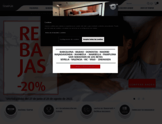 es.tempur.com screenshot