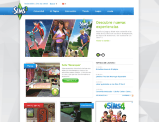 es.thesims3.com screenshot