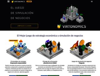es.virtonomics.com screenshot