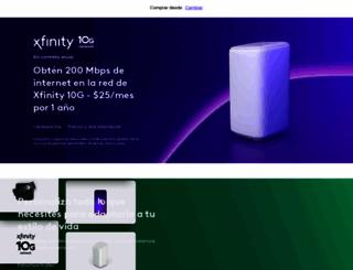 es.xfinity.com screenshot