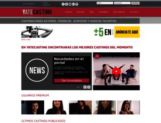 es.yatecasting.com screenshot