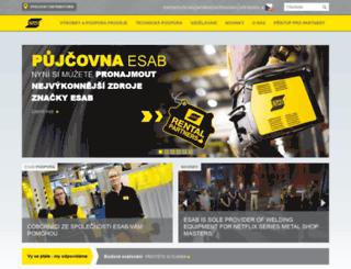 esab.cz screenshot