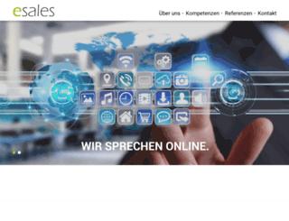 esales-gmbh.de screenshot