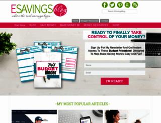 esavingsblog.com screenshot