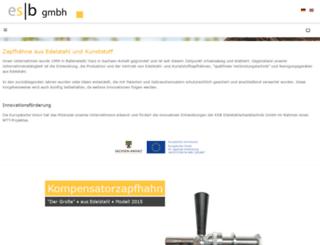 esb-edelstahlschanktechnik.de screenshot