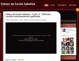 esbocodaescolasabatina.wordpress.com screenshot