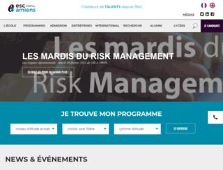 esc-amiens.com screenshot