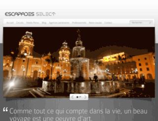 escapadesselect.com screenshot