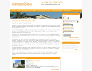 escape2usa.co.uk screenshot