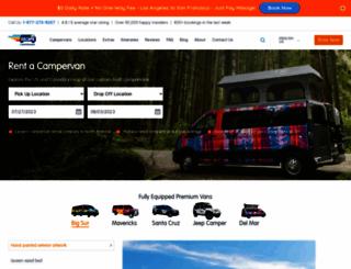 escapecampervans.com screenshot