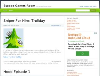 escapegamesroom.com screenshot