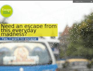 escapeintotherains.com screenshot