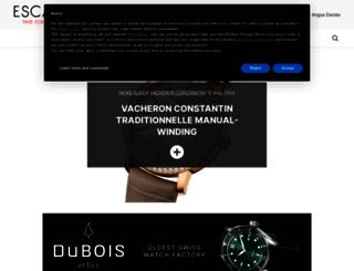 escapement.uk.com screenshot