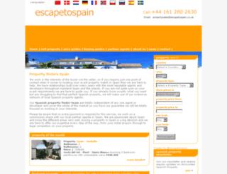 escapetospain.co.uk screenshot