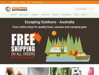 escapingoutdoors.com.au screenshot