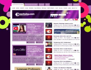 escfans.esctoday.com screenshot