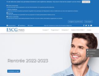 escg-paris.com screenshot