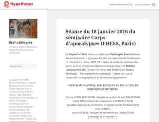 eschatologies.hypotheses.org screenshot