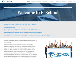 eschool.k12.hi.us screenshot